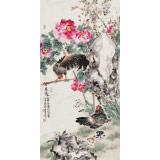 【已售】曲逸之 四尺《春晓》 著名花鸟画家