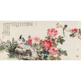 【已售】曲逸之 四尺《万叶红绡剪尽春》 著名花鸟画家