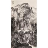 【已售】王连笙 六尺《溪山幽境》 著名山水画家
