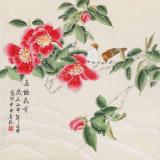 凌雪 四尺斗方《鸟语花香》 北京美协会员