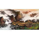 【已售】张慧仁 六尺精品19461188伟德《万山红遍 层林尽染》