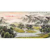 张宏达 六尺《福地安居图》