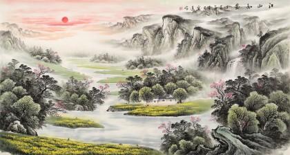 张宏达 六尺《江山如画》