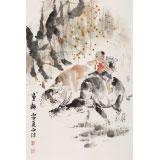 【已售】杨西沐 四尺三开《童趣》 东方书画院名誉院长
