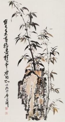 李明成三尺写意竹子图《犹自青青君始知》