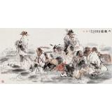 【已售】杨西沐 四尺《八仙图》 东方书画院名誉院长
