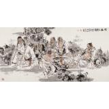 杨西沐 四尺《竹林七贤图》 东方书画院名誉院长