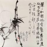 【已售】黄云鸿 四尺斗方《二十五弦秋月明》