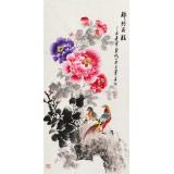 【已售】王宝钦 三尺《锦绣前程》 当代花鸟牡丹画名家(询价)