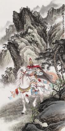 邹本财 四尺馆藏精品岳飞像《忠烈千秋》 公主岭市美协常务副主席