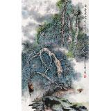 【已售】谭良干 三尺《白云深处有舟行》 贵州最新博彩大全名家