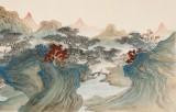 【已售】何实 1.5米《江清月近人》吉林著名山水画家