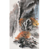 【已售】谭良干 三尺《霜叶红于二月花》 贵州19461188伟德名家