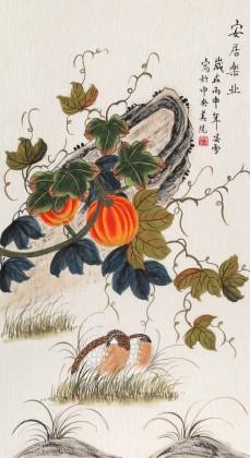 凌雪 三尺《安居乐业》 北京美协会员