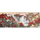 【已售】蒋元发 小六尺《秋山红韵》 广西著名山水画家