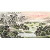 【已售】张宏达 六尺《福地安居图》