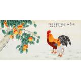 凌雪 四尺《鸡年如意》 北京美协会员