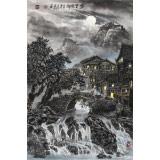 申凌翔 四尺三开《梦里故乡》 广西山水画名家