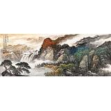 【已售】李碧峰 小六尺《源远流长》 中国书画家协会理事