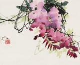 【已售】苗雨 四尺斗方《紫气东来》 辽宁工美教授 师从吴冠中