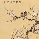 【已售】皇甫小喜 四尺斗方《梅雀闹春》 河南著名花鸟画家