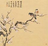 【已售】皇甫小喜 四尺斗方《墙角数枝梅》 河南著名花鸟画家
