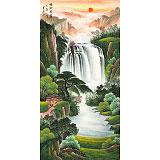 【已售】吴东 四尺《福地安居》 著名易经风水画家