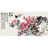 曲逸之 三尺《江南春好》 河南省著名花鸟画家