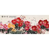 【已售】曲逸之 小六尺《富贵吉祥》 河南省著名花鸟画家