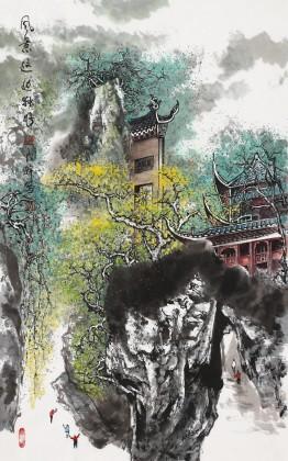 谭良干 三尺《风景这边独好》 贵州山水画名家