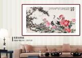 曲逸之 六尺《富贵长寿》 中国美术学院著名花鸟画家