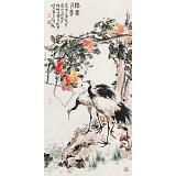 曲逸之 四尺《结实千年》  中国美术学院著名花鸟画家