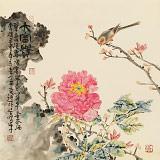 曲逸之 四尺斗方《大富贵》 河南省著名花鸟画家