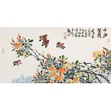 曲逸之 三尺《十分春色》 河南省著名花鸟画家
