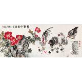 曲逸之 小八尺《富贵大吉图》 河南省著名花鸟画家