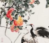 曲逸之 四尺《结实千年》  河南省著名花鸟画家