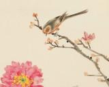 曲逸之 四尺斗方《大富贵》 中国美术学院著名花鸟画家