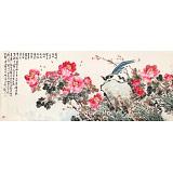 曲逸之 小八尺《暮香深惹玉堂风》 中国美术学院著名花鸟画家