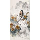 名家赵金鸰四尺国画《陶渊明》(询价)