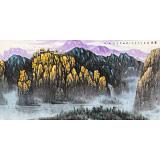 名家赵金鸰太行雪村系列之四尺《晨光》(询价)