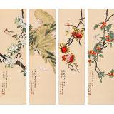 先不上架 凌雪 四条屏《春夏秋冬》 北京美协会员