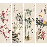 凌雪 四条屏《梅兰竹菊》 北京美协会员