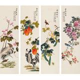 凌雪 四条屏《福禄绵长》 北京美协会员