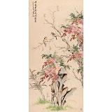 【已售】皇甫小喜 四尺《紫气东来 花开富贵》 河南著名花鸟画家