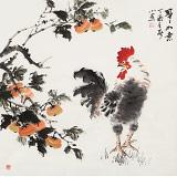 【已售】皇甫小喜 四尺斗方《事事如意》 河南著名花鸟画家