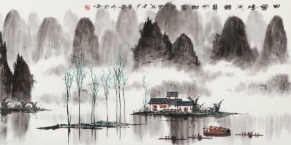 张春奇 三尺《晨雨细霏霏》 徐悲鸿纪念馆艺术中心理事(询价)
