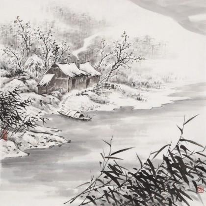 刘金河 四尺斗方《晚来天欲雪》 国家画院山水名家