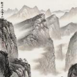 刘金河 四尺《轻舟好过万重山》 国家画院山水名家