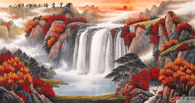 【已售】吴东 六尺《鸿运当头》 著名易经风水画家图片