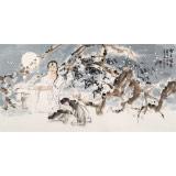 杨西沐 四尺《雪月风清》 东方书画院名誉院长